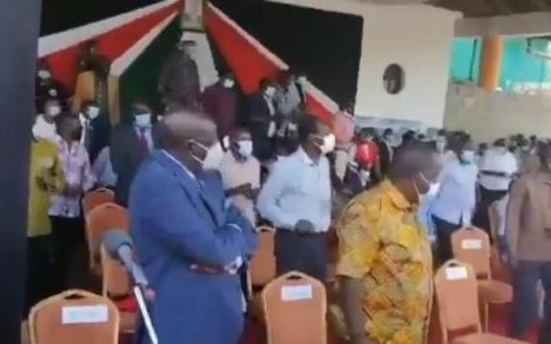 Video of unbothered Magoha during #Jerusalemachallenge goes viral