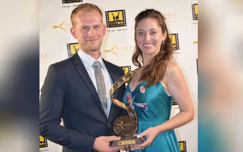 Best short film award winner Tom whitworth and Dav