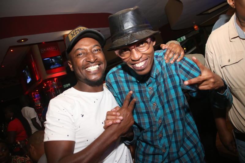 Mr Lenny and Ethadeejay during the 1st New Jack Swing of the Decade,went down at the Carnivore Simba Saloon with the E- thadeejay , DJ Ben and DJ Adrian ON 2IST February 2020 PHOTO/David Gichuru