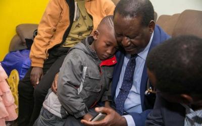 When it gets teary: Slain IEBC ICT Manager Chris Msando's son stuns Raila and his team