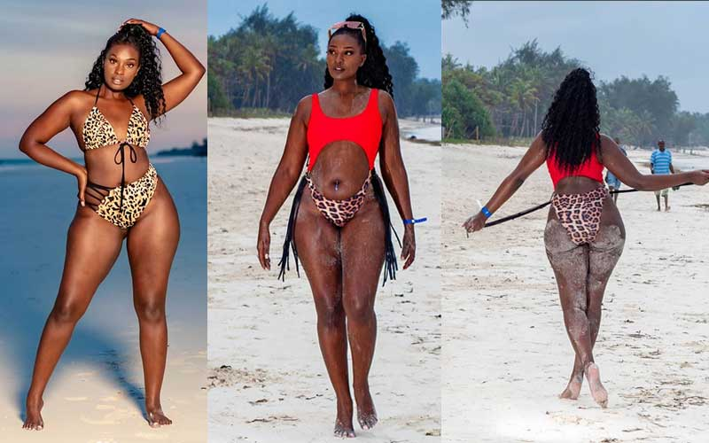 YouTuber Maureen Waititu defends her bikini vacation photos