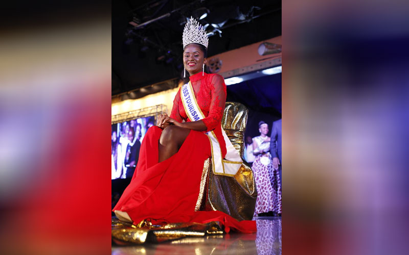 Wendy Bella at Miss Tourism Kenya 2018