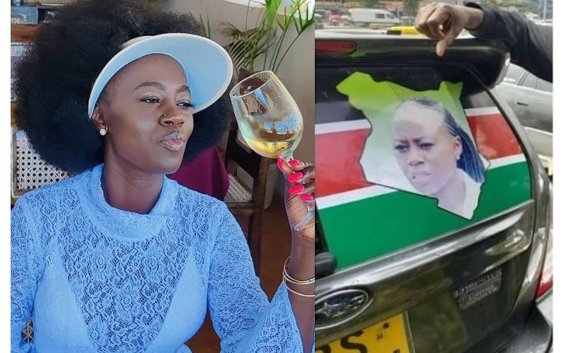 Akothee impressed by fan who printed her face on his car, offers dinner date