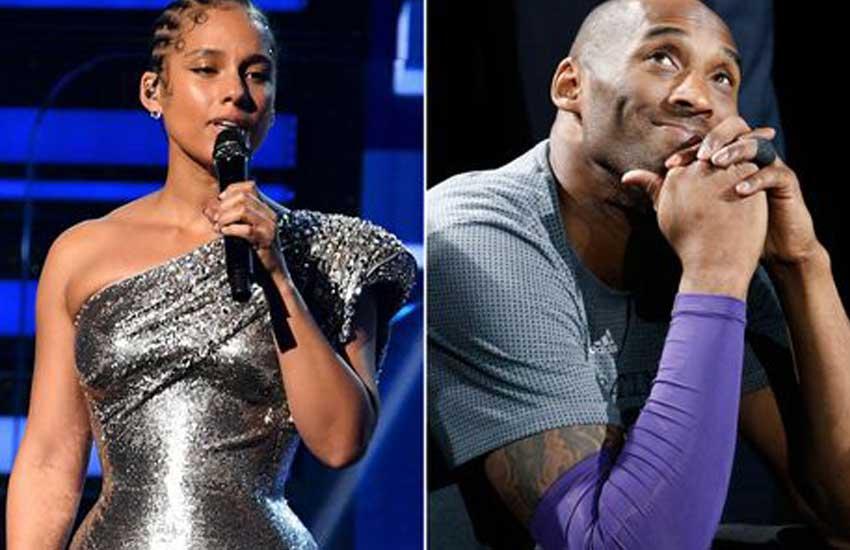 Alicia Keys pays emotional tribute to Kobe Bryant at Grammy Awards hours after fatal crash
