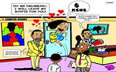 Antics that 'ngumbaru' students get to in Kenyan varsities