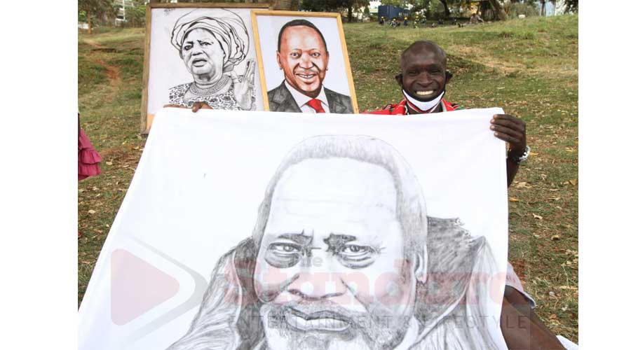 Chasing a dream: Kisumu artist works hard to catch President Uhuru's eye