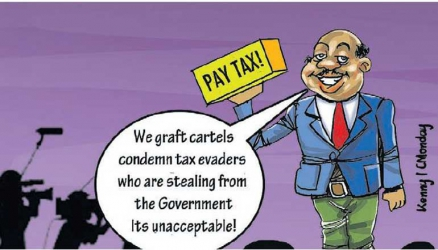 Corruption cartels lash out at tax evaders for denying them state revenue to steal