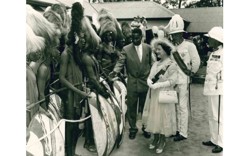 Day young William ole Ntimama hosted Queen Elizabeth in Narok