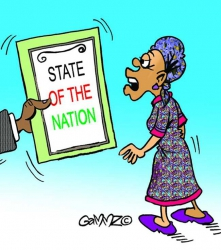 Distaste of the nation address, as never read before