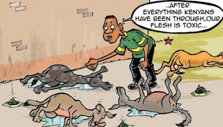 Dozens of dogs die after consuming flesh and blood of long-suffering Kenyans