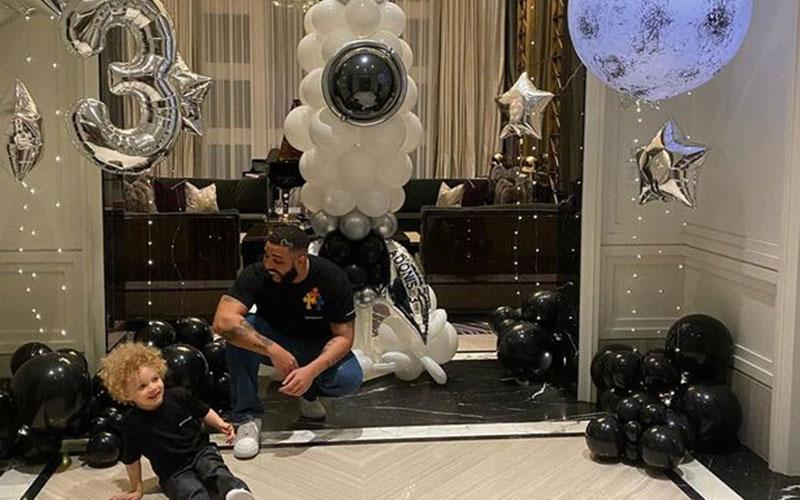 Drake hails three-year-old son Adonis in cute birthday photo