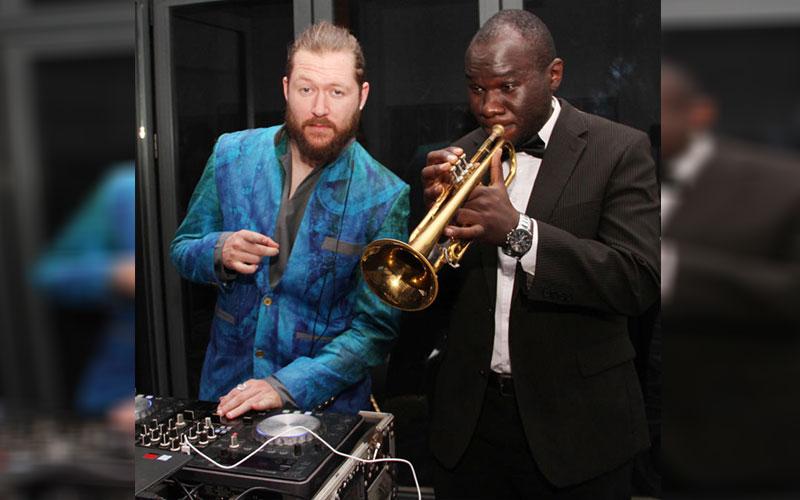 Dj Kace(Left)and Mackinlay Mutsembi(Right)during I