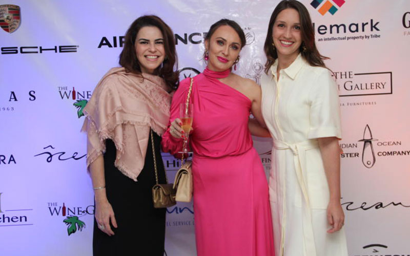 From left, Rossana Abouol,Elena Kuoni and Viveen F