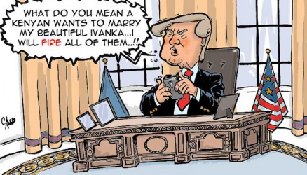 Government panics at prospect of a Kenyan expressing interest in Donald Trump daughter
