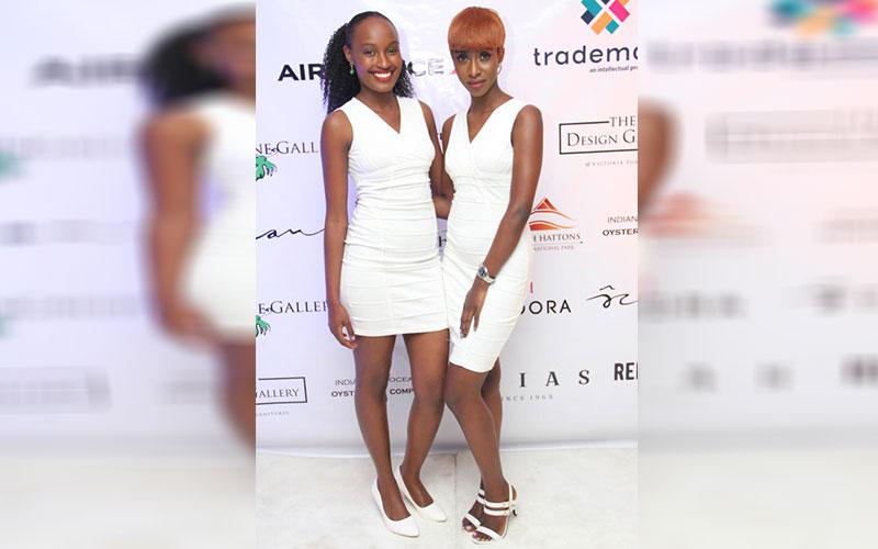 Yvonne Kinoti (Left) and Maroa Wansato (Right) pos