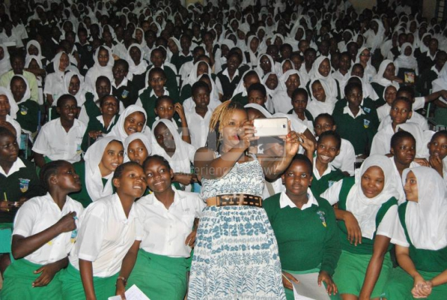 Mwende Macharia at Matuga Girls High School