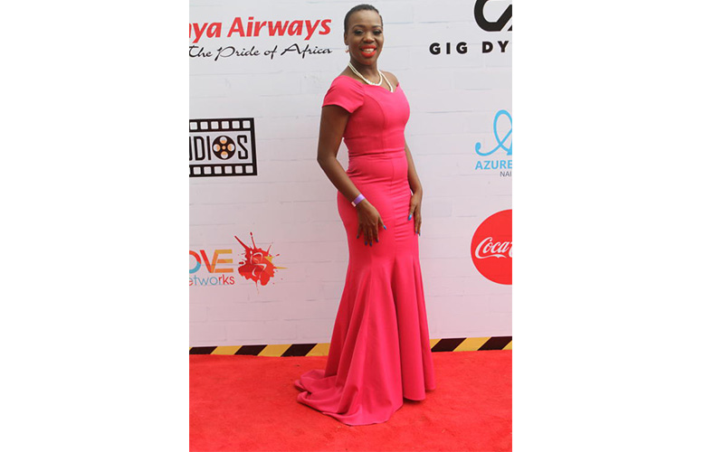 Ruth Matete at the red carpet. Photo; Courtesy
