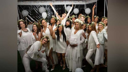 Inside Ciara's Baby Shower: Flowery Crowns!