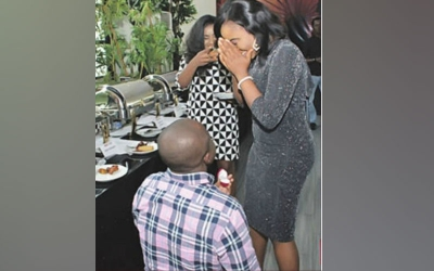 Internet abuzz after man proposes to girlfriend at her 'sponsor's' bash