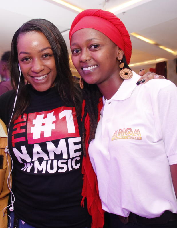 Stacy Njimu and Joy Mwiti  during the 'SAY IT WITH PS' cadburys chocolate launch at Anga Cinema on 17th February 2020 PHOTO/David Gichuru