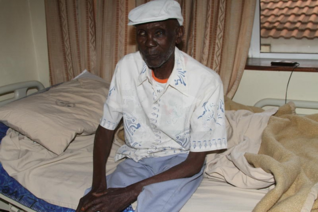 Mze Ojwang' at Lions Hospital in March