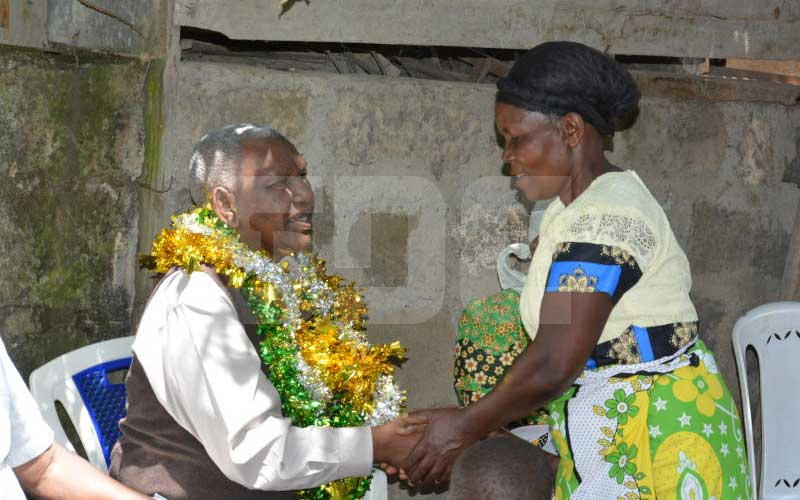 Joy as man,86, reunites with family after 47 years in the US