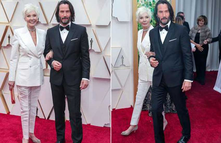 Keanu Reeves brings mum to Oscars 2020 but viewers think she's his girlfriend