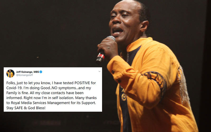 Kenyans' messages to Jeff Koinange after testing positive for COVID-19
