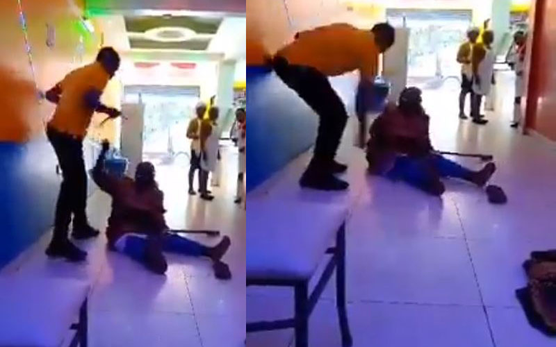 Machakos waiter seen beating disabled woman in viral video arrested