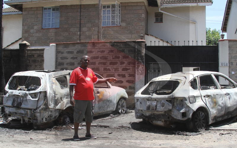Imara Daima man who lost two cars worth Sh2.8m in fire denies claims inferno was suicidal