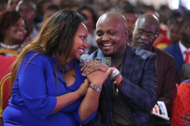 Moses Kuria is just a friend - Millicent Omanga clarifies after they were spotted at book launch