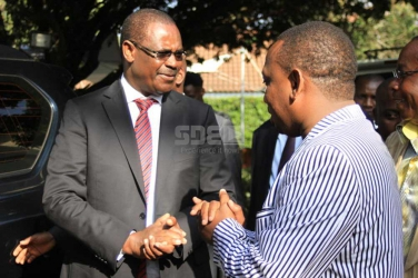 My wife is glad to have me back from the other woman, Kidero says as he hands over mantle to Mike Sonko