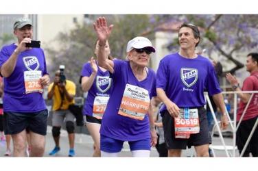 Olympics here we come: Grandma runs and completes marathon at 94