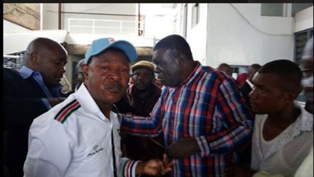 Photos: CORD leaders teargassed by anti-riot police during IEBC protest