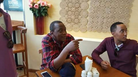 President Kenyatta's family surprise visit to city restaurant