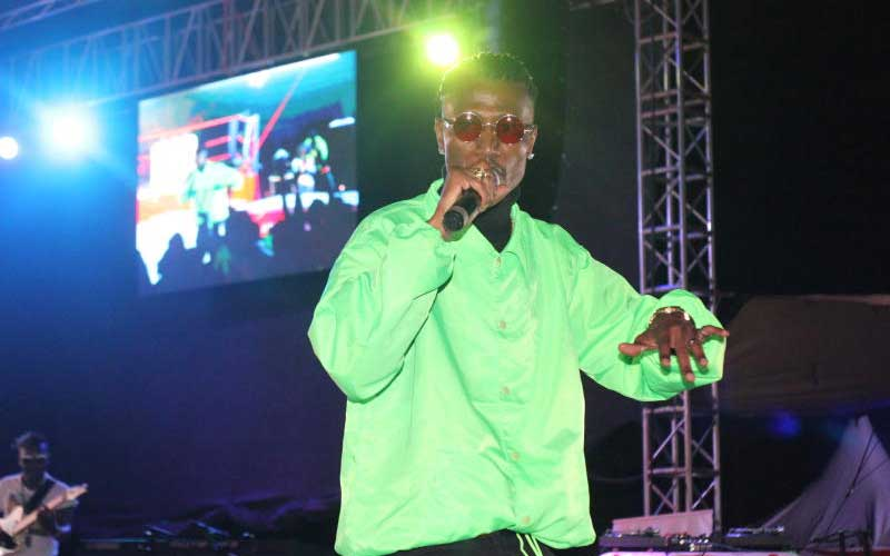 Octopizzo during the Smirnoff Battle of the Beats