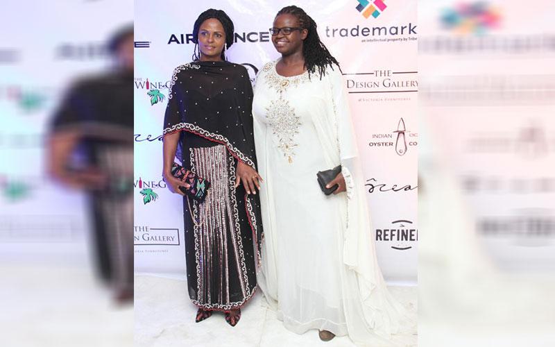 Catherine Njeru (from left) and Akinyi Adongo (Rig