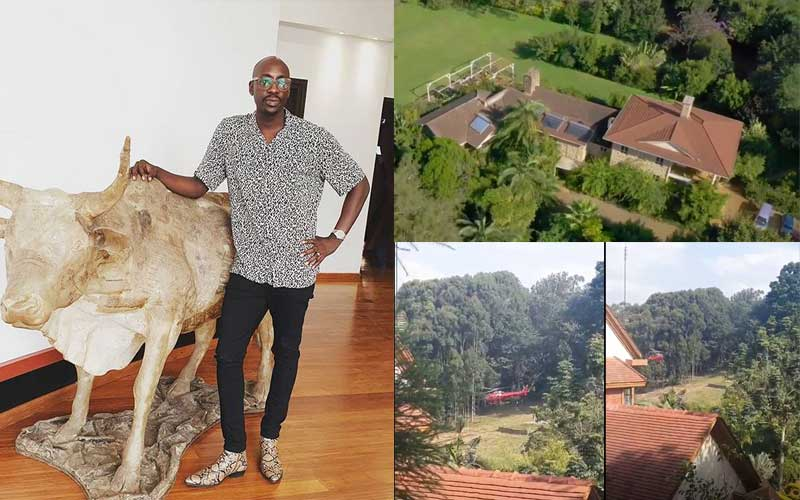 Sauti Sol singer Bien showcases lush residence as neighbour lands in chopper