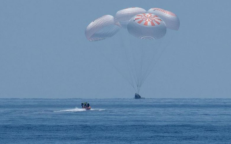 SpaceX spacecraft lands in Gulf of Mexico after two-month voyage