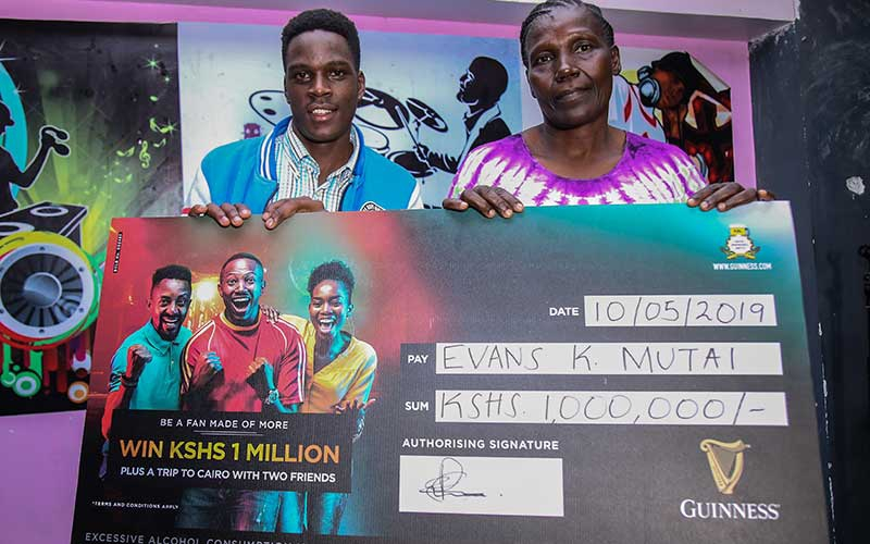 22-year old wins Sh1 million Guinness grand prize, trip to Cairo