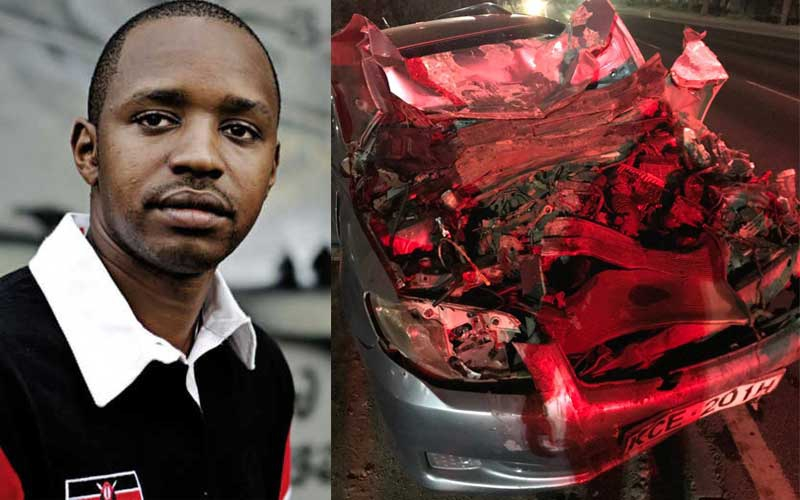 Please belt up – Boniface Mwangi pleads after being involved in accident