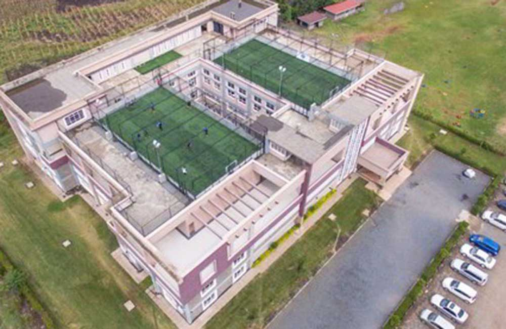 Christian centre builds football pitch on top of church complex