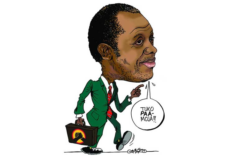 Doomed Raphael Tuju about to sink and drown