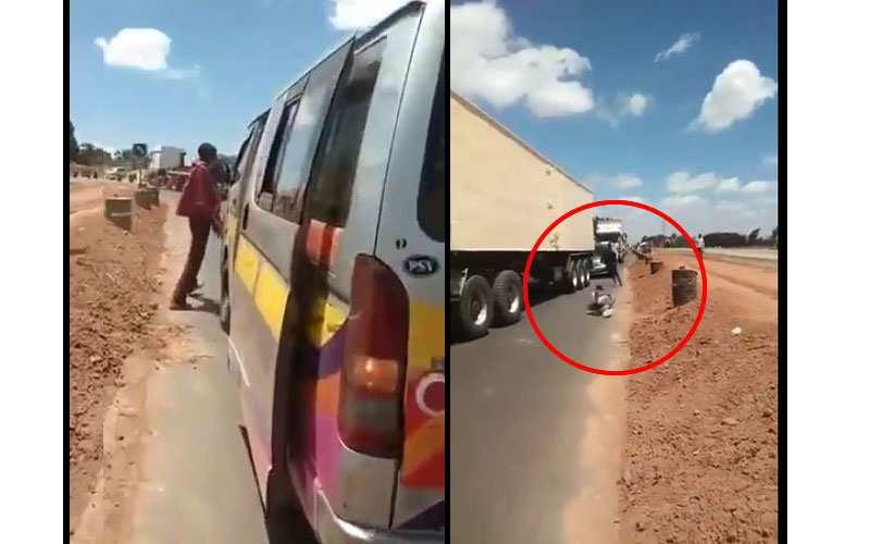 Drama as angry passengers chase matatu driver for over speeding