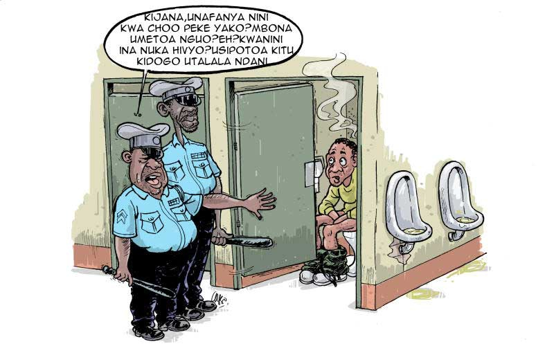 Extortionist mentality of a typical Kenyan cop