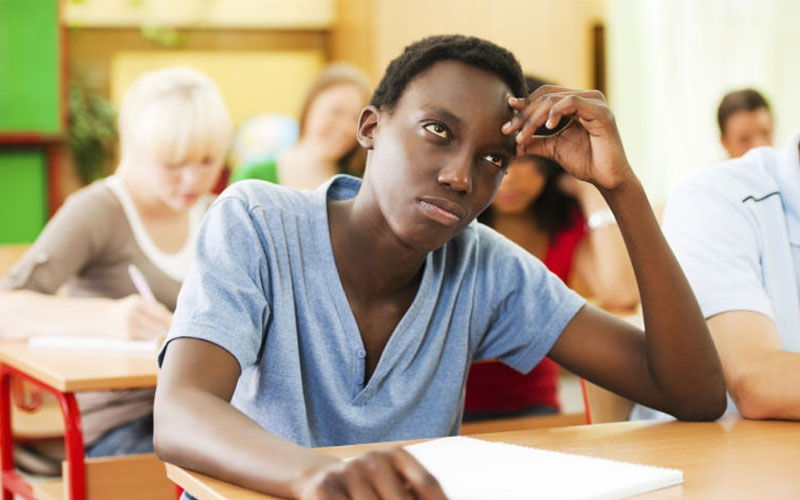 Five types of students in an exam room
