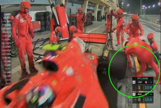 Horrific: F1's Kimi Raikkonen runs over mechanic's leg