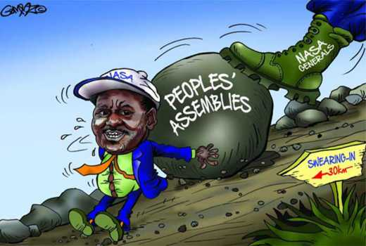 How Raila's swearing-in will flop
