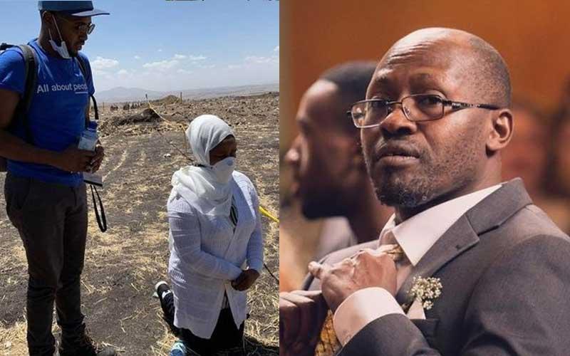 Joseph Waithaka: Wife, son of Kenyan who died Ethiopian crash visit site