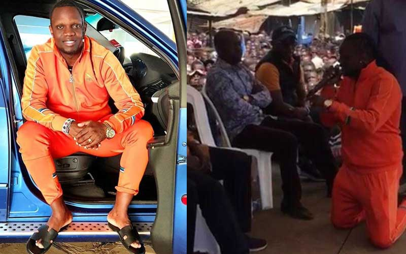 Kriss Darlin explains why he knelt before Raila Odinga